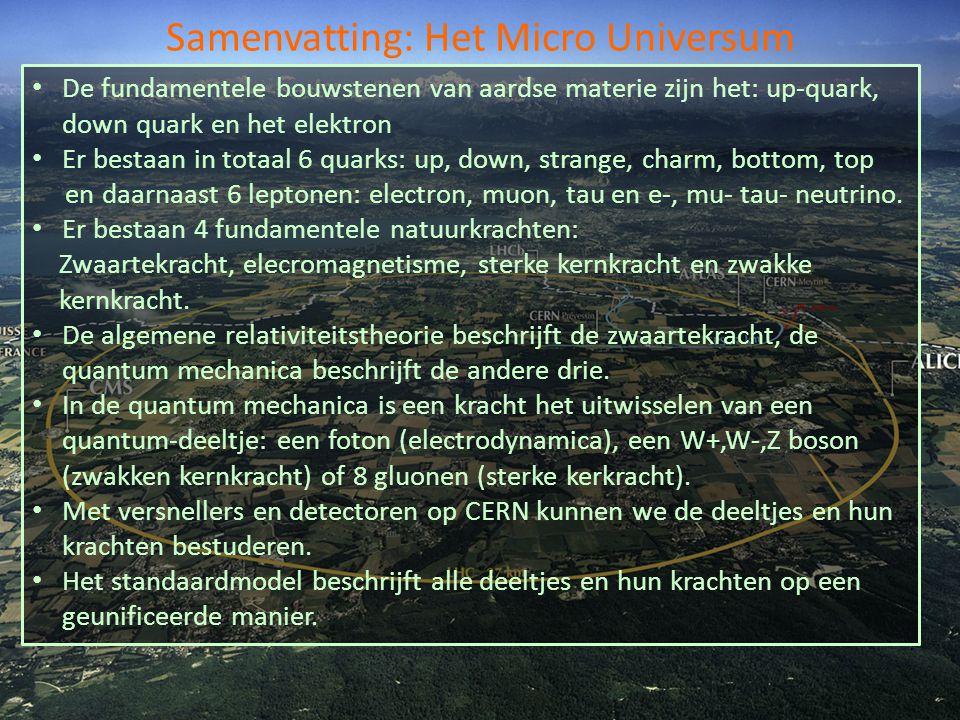 Samenvatting: Het Micro Universum