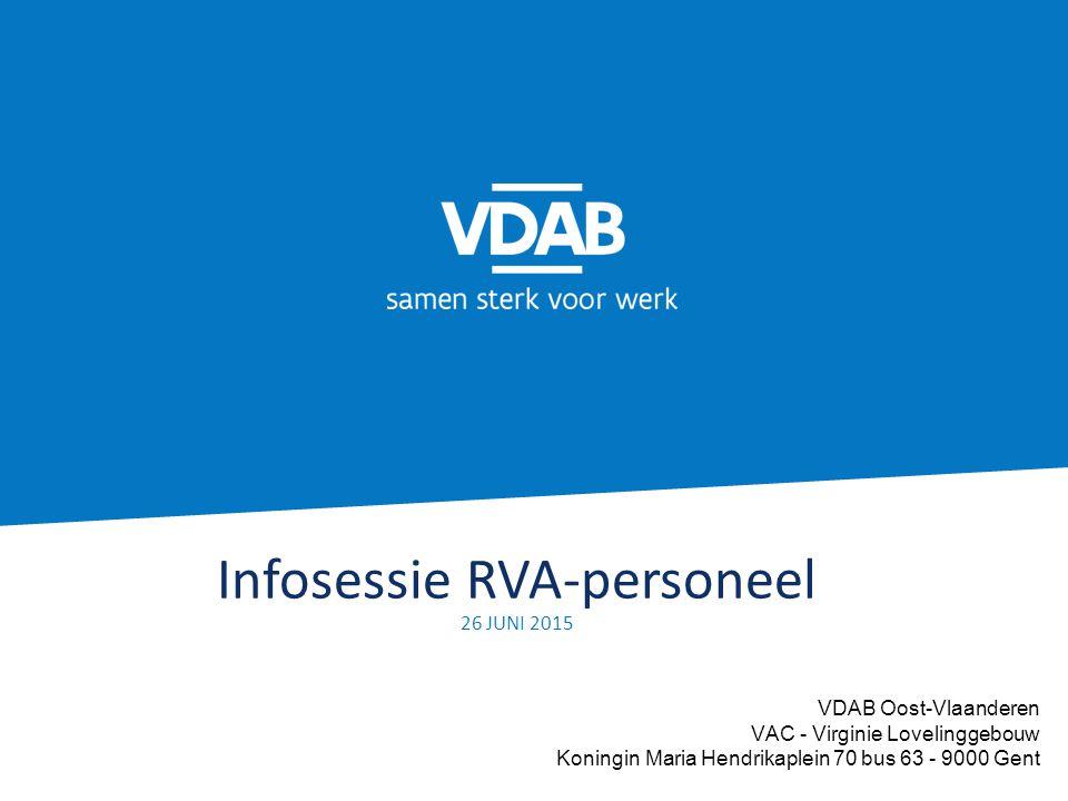 Infosessie RVA-personeel