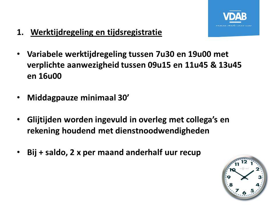 Werktijdregeling en tijdsregistratie