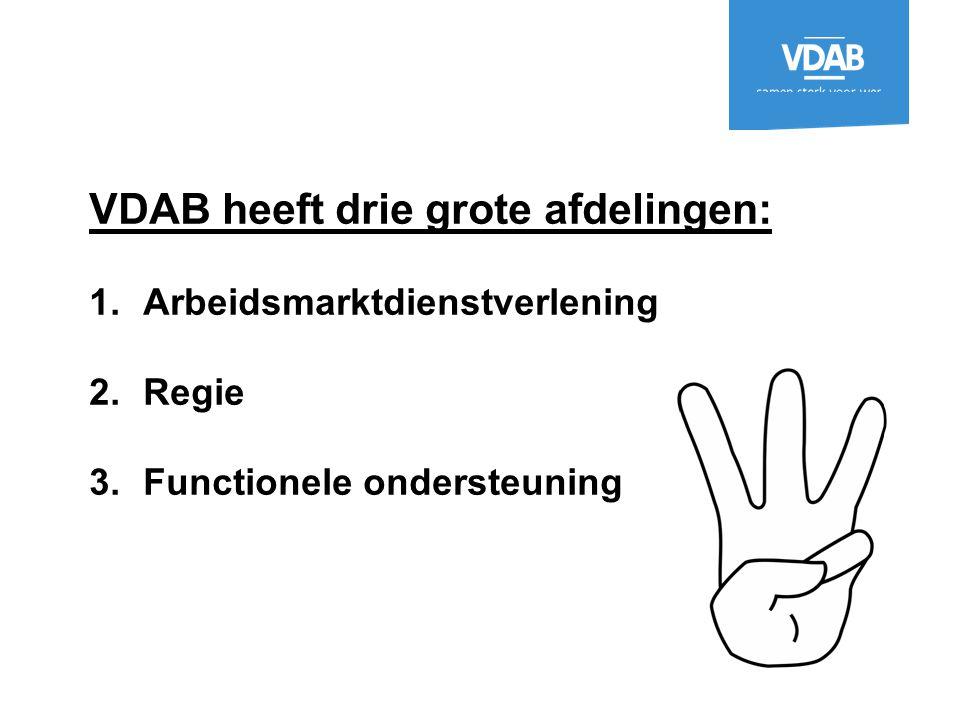 VDAB heeft drie grote afdelingen: