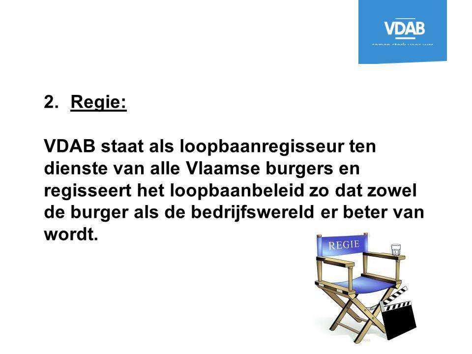 Regie: VDAB staat als loopbaanregisseur ten dienste van alle Vlaamse burgers en.