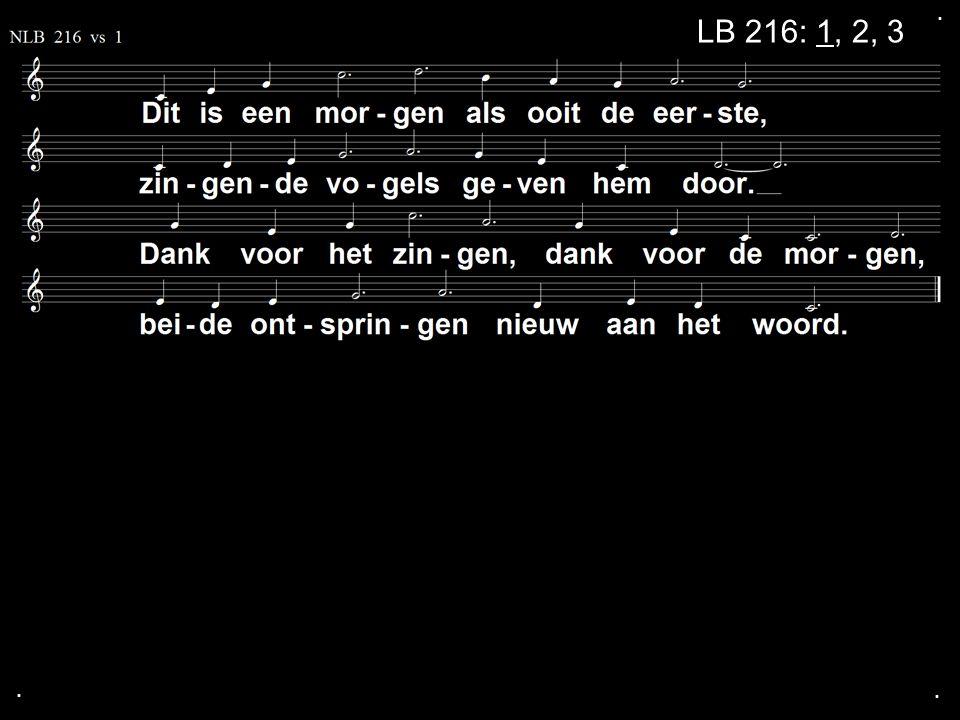 . LB 216: 1, 2, 3 . .