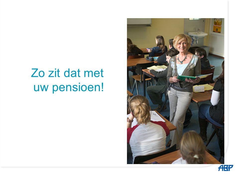 Zo zit dat met uw pensioen!