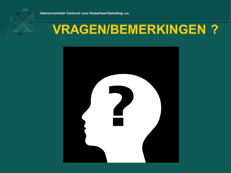 VRAGEN/BEMERKINGEN