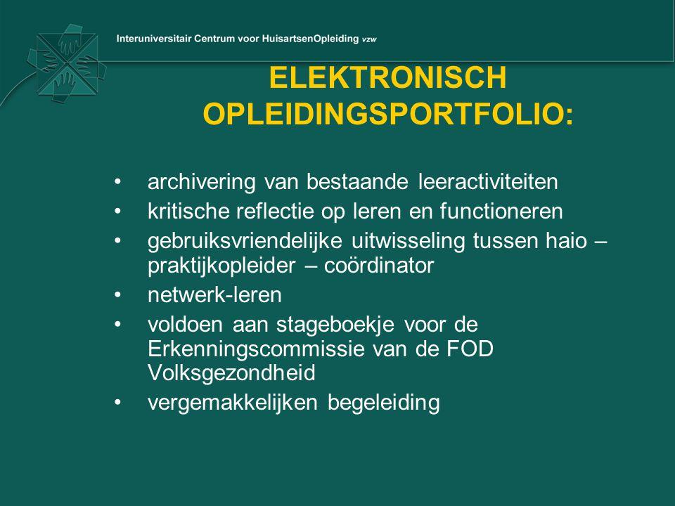 ELEKTRONISCH OPLEIDINGSPORTFOLIO:
