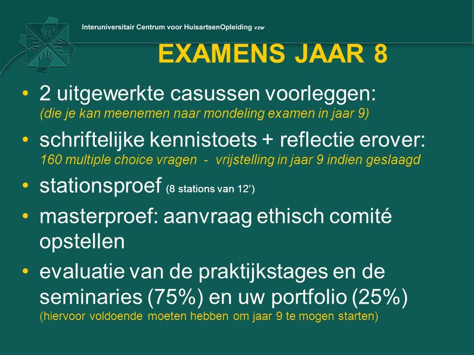 EXAMENS JAAR 8 2 uitgewerkte casussen voorleggen: (die je kan meenemen naar mondeling examen in jaar 9)