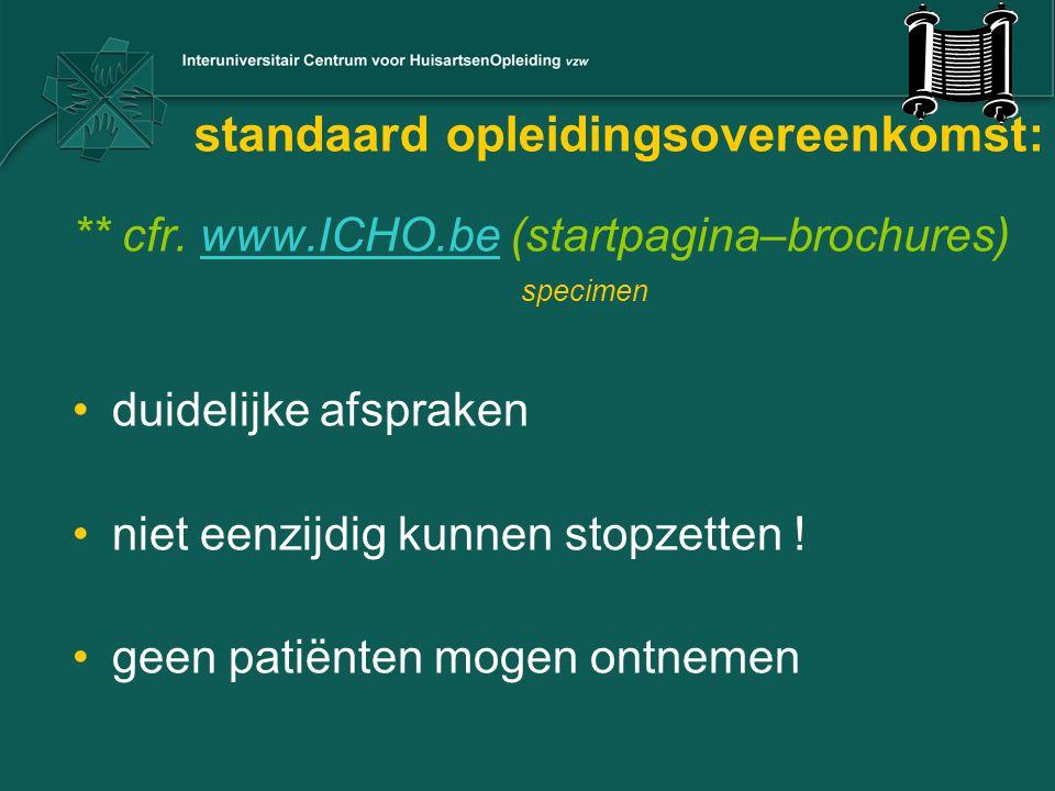 standaard opleidingsovereenkomst: