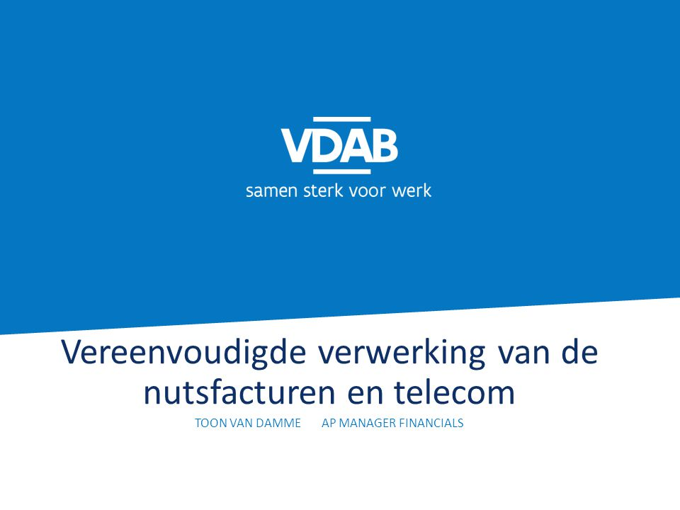 Vereenvoudigde verwerking van de nutsfacturen en telecom