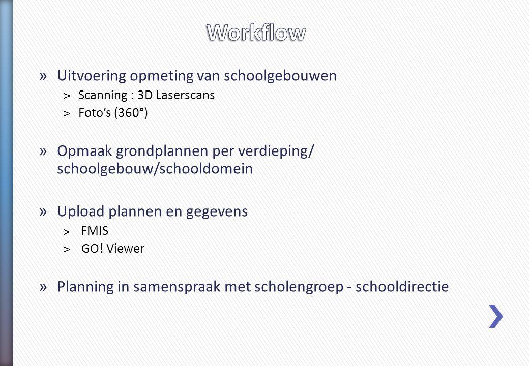 Workflow Uitvoering opmeting van schoolgebouwen
