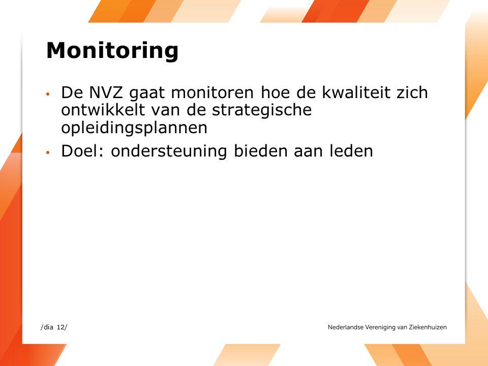 Monitoring De NVZ gaat monitoren hoe de kwaliteit zich ontwikkelt van de strategische opleidingsplannen.