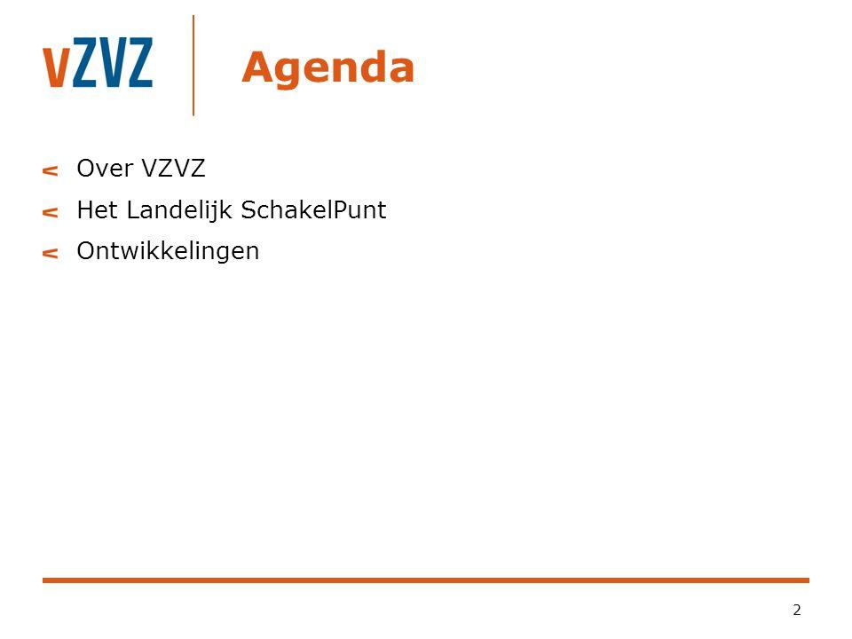 Agenda Over VZVZ Het Landelijk SchakelPunt Ontwikkelingen