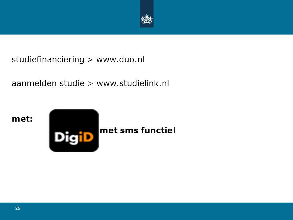 studiefinanciering > www.duo.nl