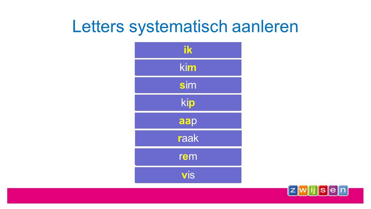 Letters systematisch aanleren