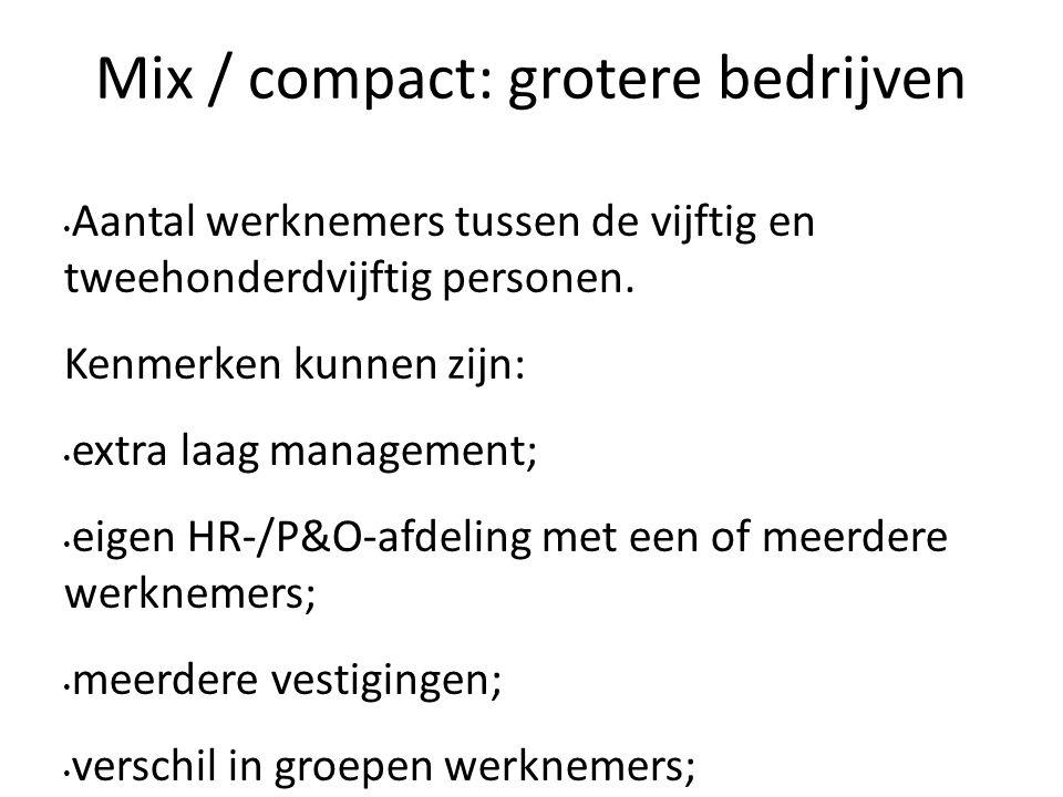 Mix / compact: grotere bedrijven