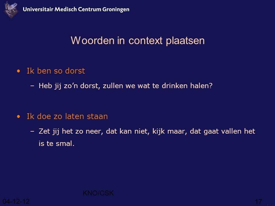 Woorden in context plaatsen