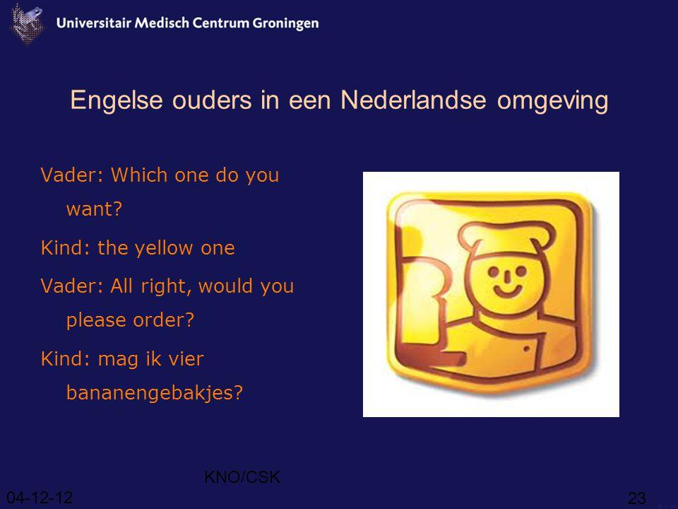 Engelse ouders in een Nederlandse omgeving