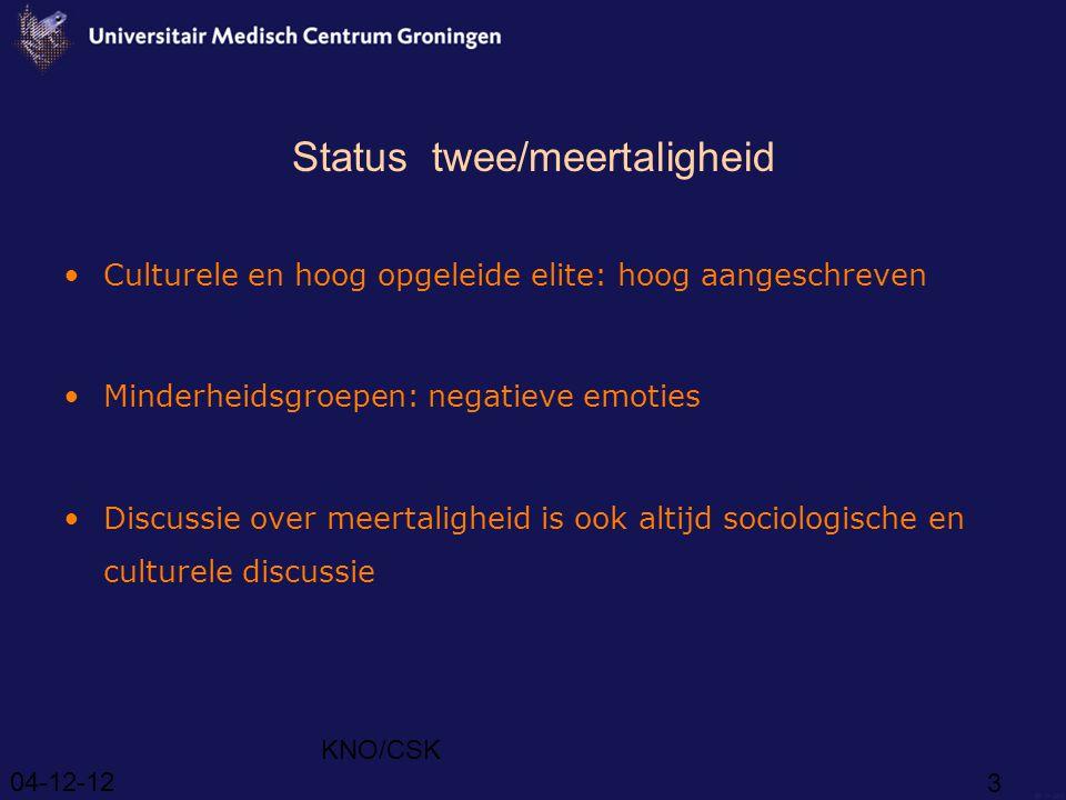 Status twee/meertaligheid