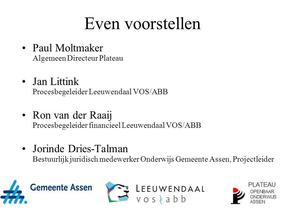 Even voorstellen Paul Moltmaker Algemeen Directeur Plateau
