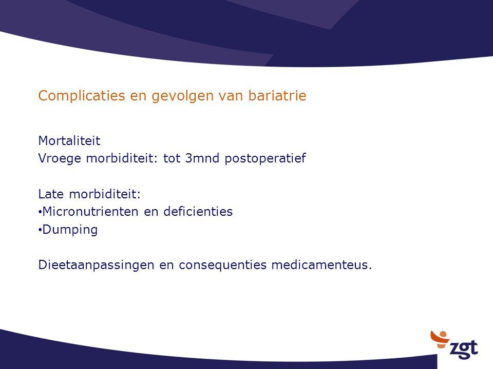 Complicaties en gevolgen van bariatrie