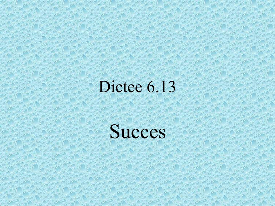 Dictee 6.13 Succes