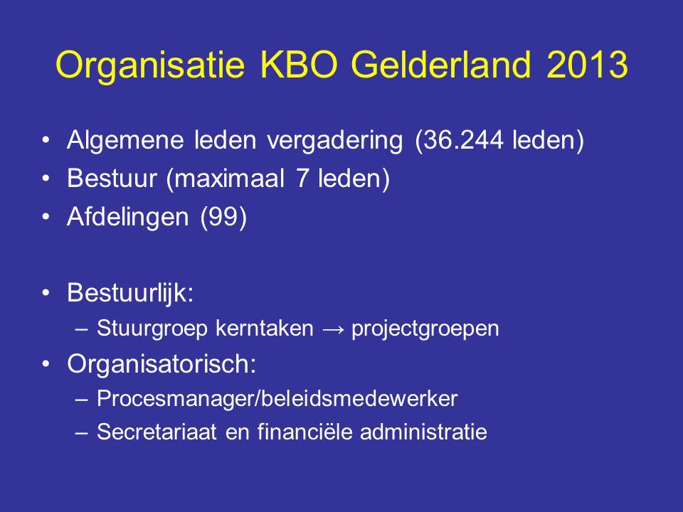 Organisatie KBO Gelderland 2013