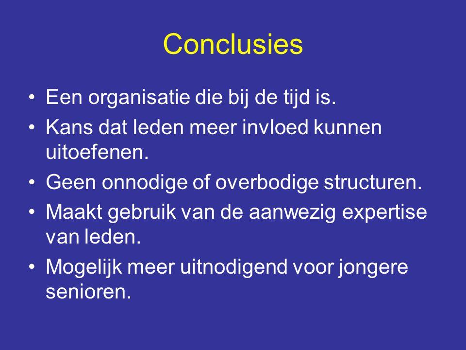 Conclusies Een organisatie die bij de tijd is.