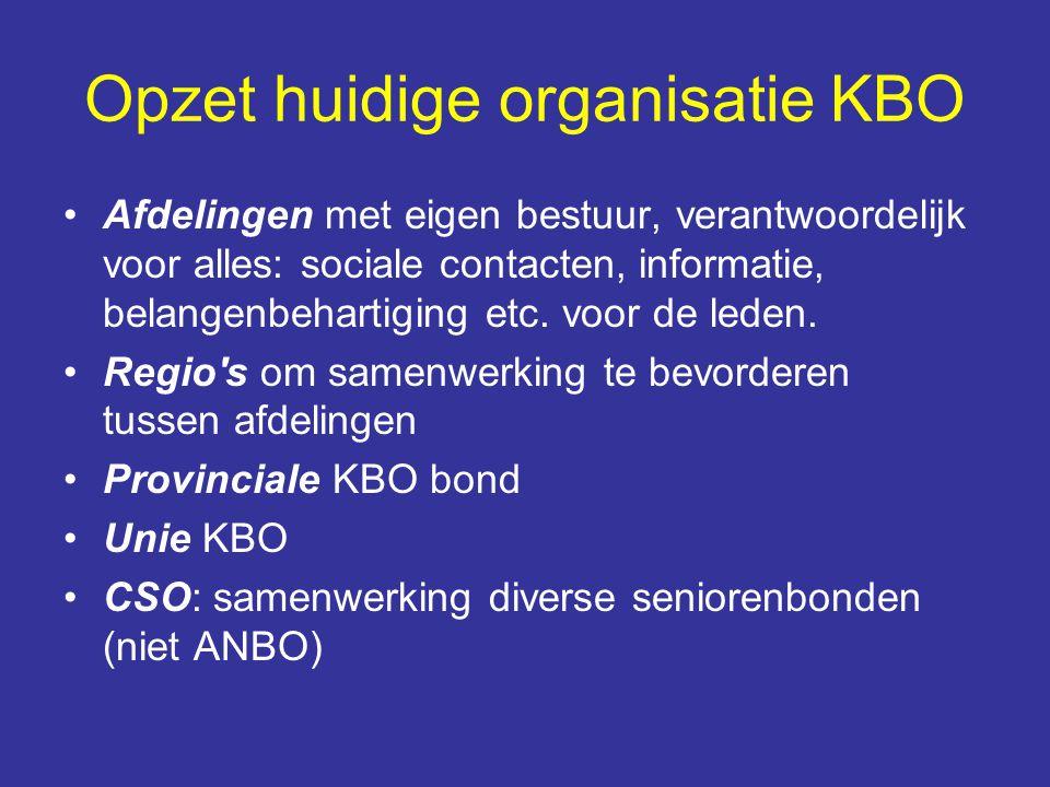 Opzet huidige organisatie KBO