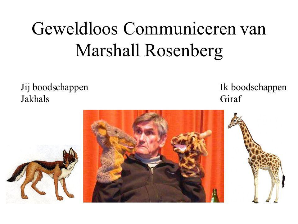 Geweldloos Communiceren van Marshall Rosenberg