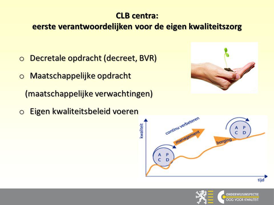 CLB centra: eerste verantwoordelijken voor de eigen kwaliteitszorg