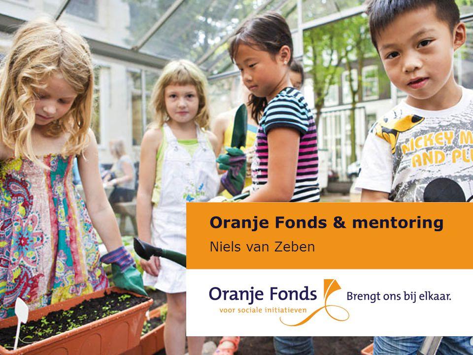 Oranje Fonds & mentoring Niels van Zeben