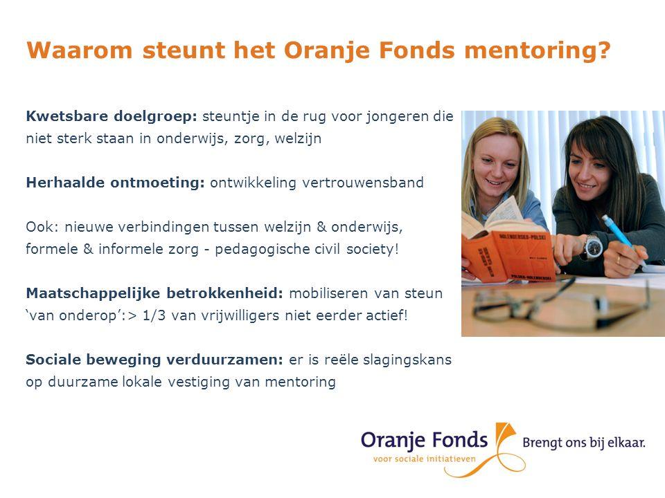 Waarom steunt het Oranje Fonds mentoring