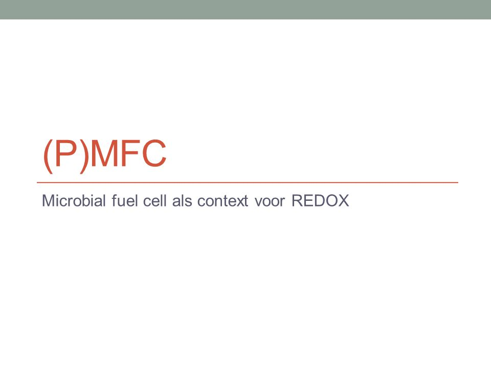 Microbial fuel cell als context voor REDOX