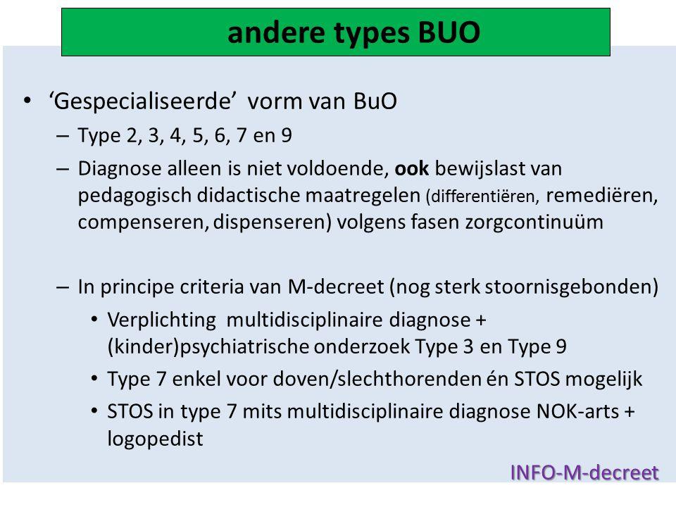 andere types BUO 'Gespecialiseerde' vorm van BuO