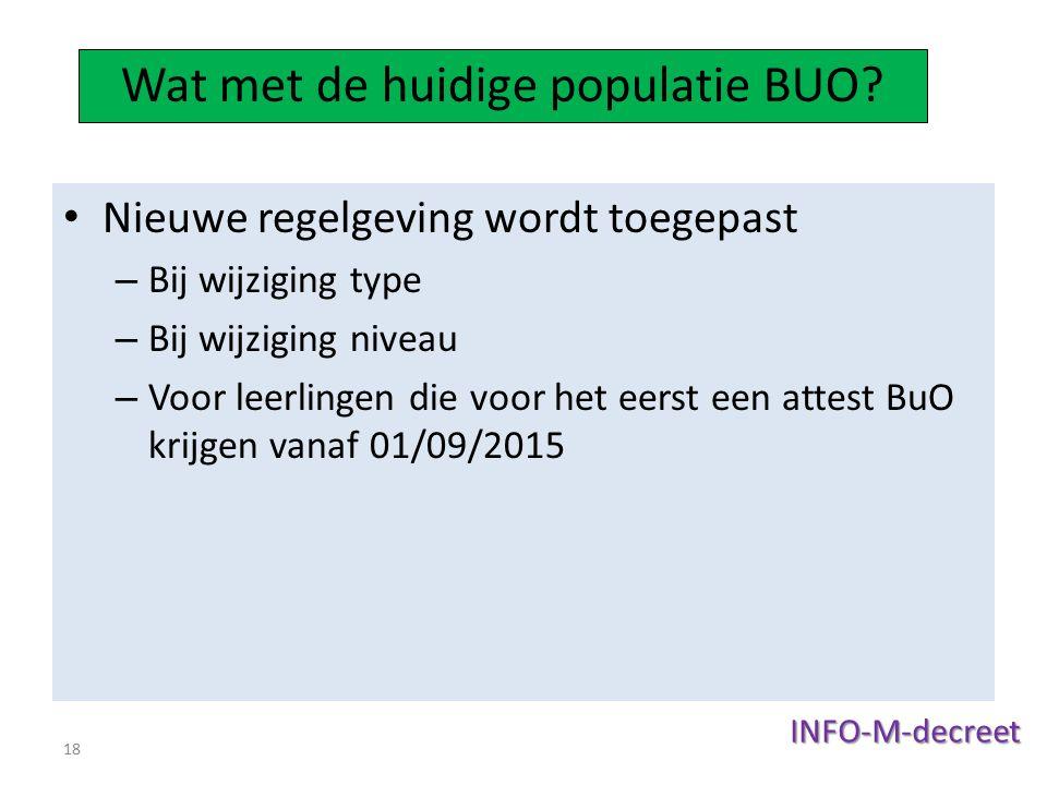 Wat met de huidige populatie BUO