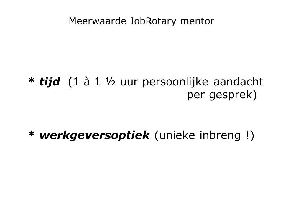 Meerwaarde JobRotary mentor