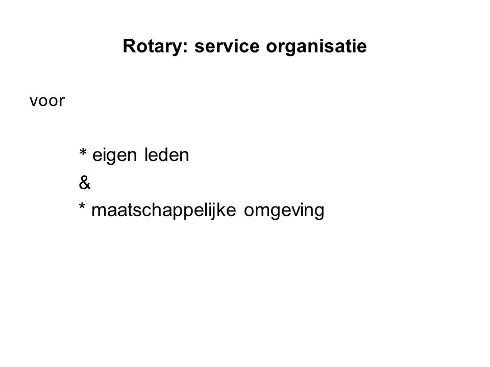 Rotary: service organisatie