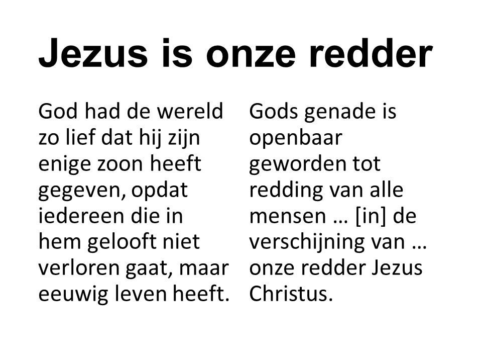Jezus is onze redder