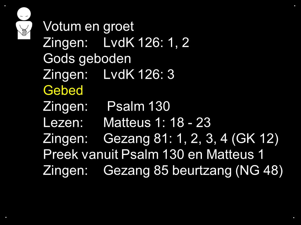 Preek vanuit Psalm 130 en Matteus 1