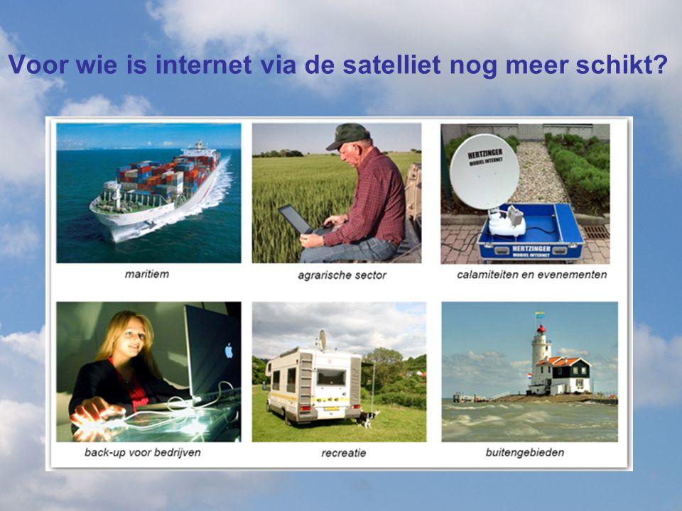 Voor wie is internet via de satelliet nog meer schikt