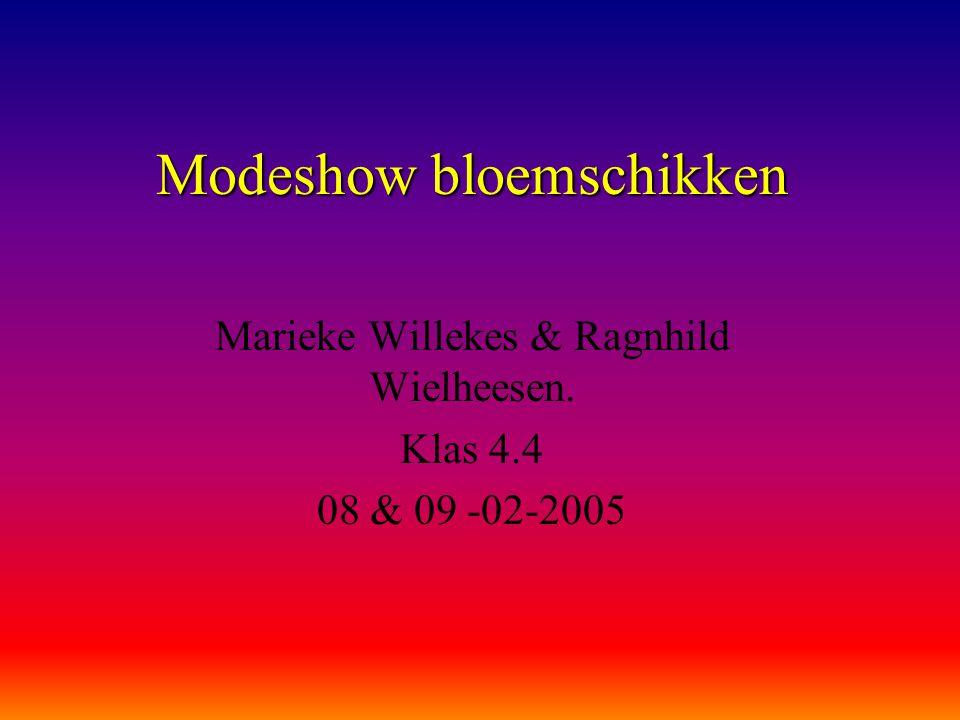 Modeshow bloemschikken