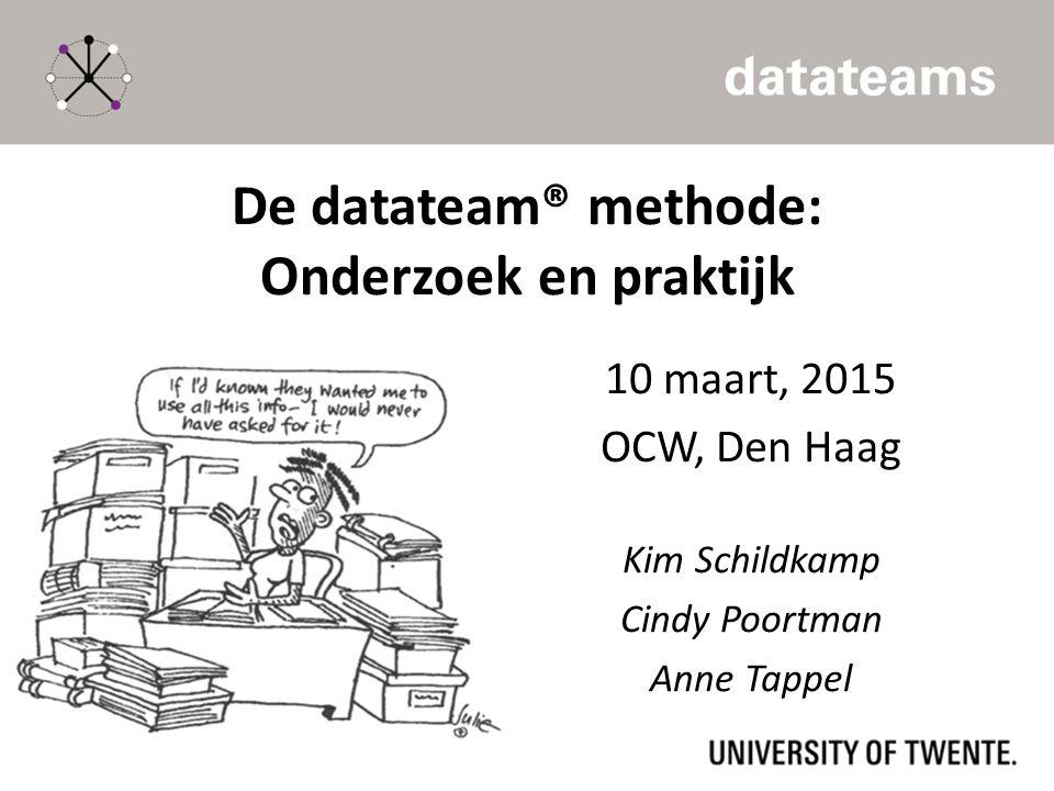 De datateam® methode: Onderzoek en praktijk