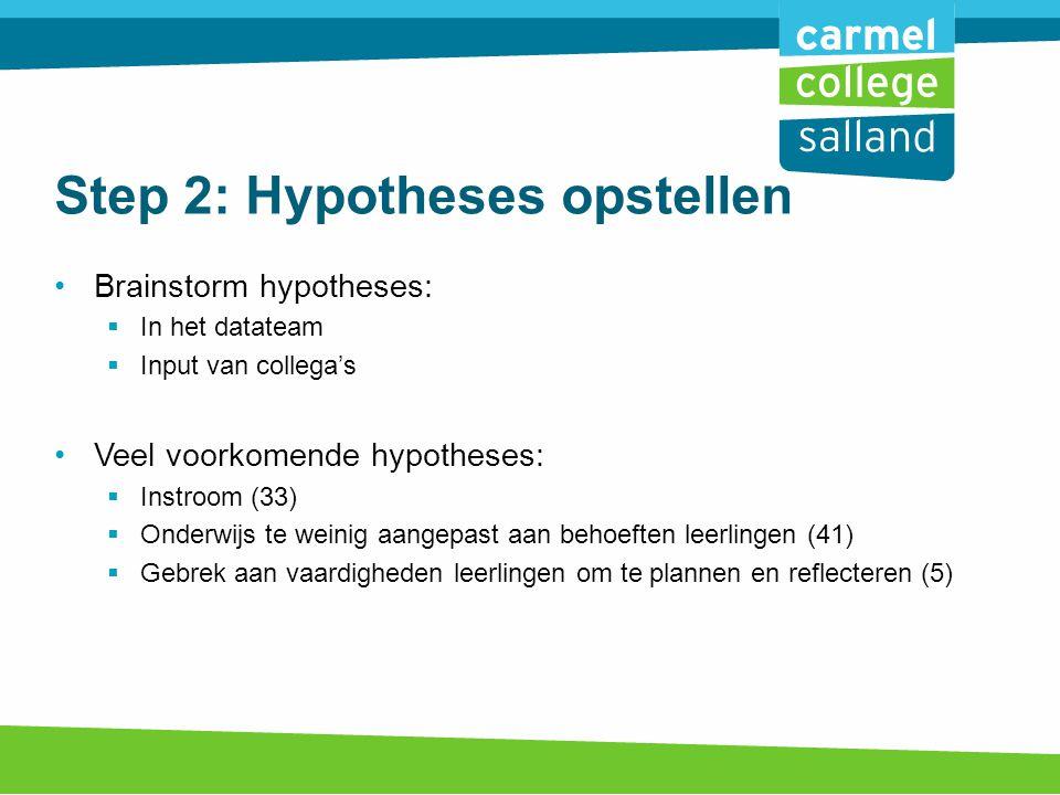 Step 2: Hypotheses opstellen