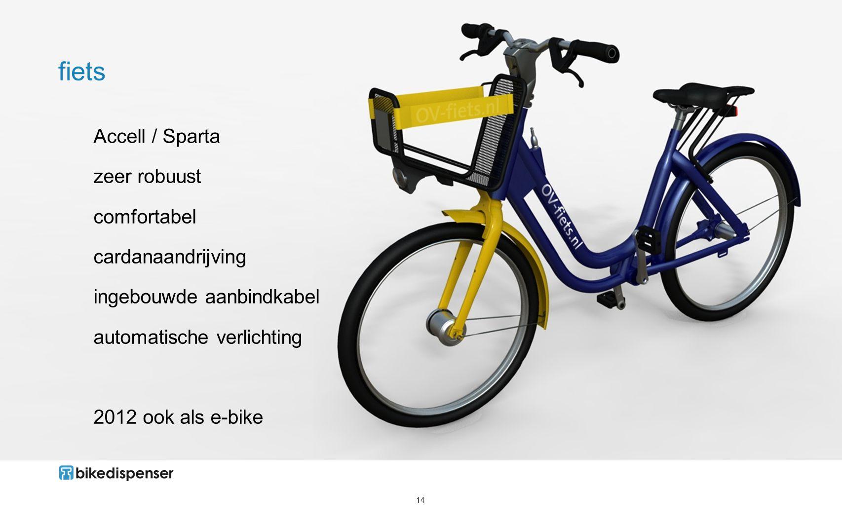 fiets Accell / Sparta zeer robuust comfortabel cardanaandrijving