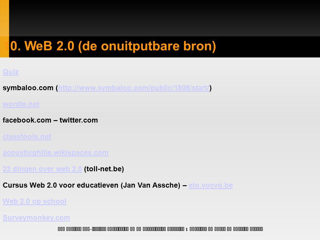10. WeB 2.0 (de onuitputbare bron)