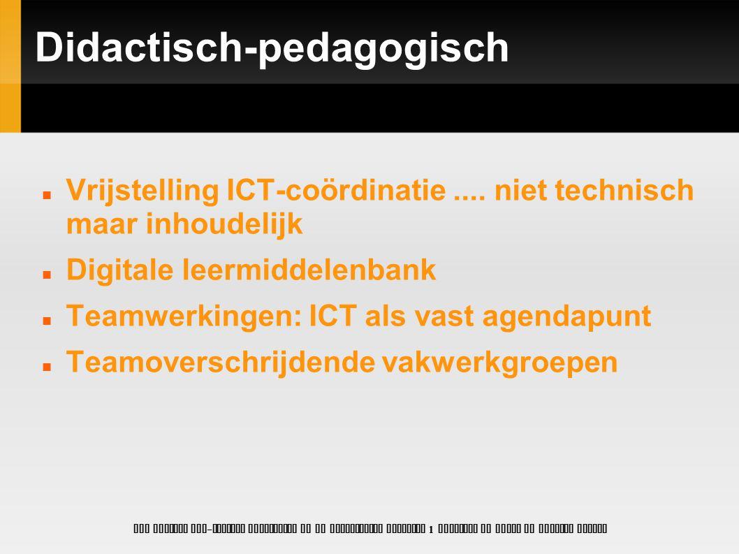 Didactisch-pedagogisch