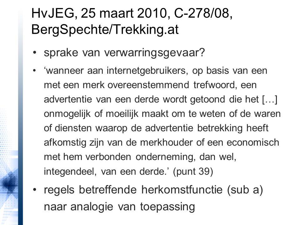 HvJEG, 25 maart 2010, C-278/08, BergSpechte/Trekking.at