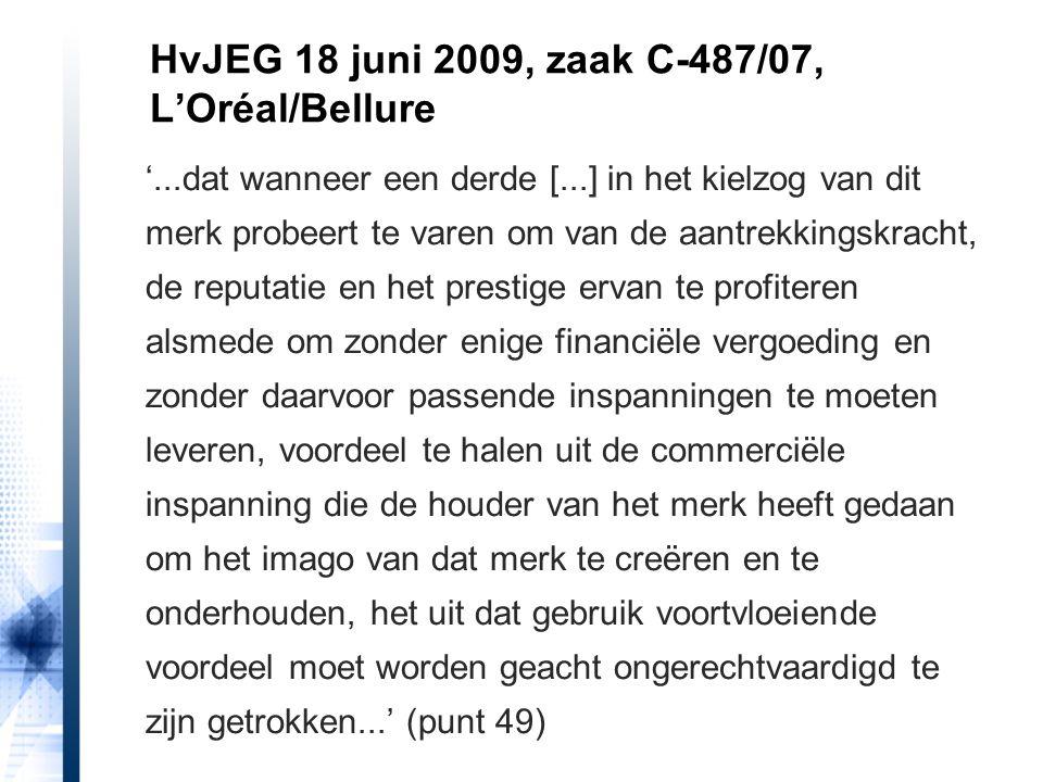 HvJEG 18 juni 2009, zaak C-487/07, L'Oréal/Bellure