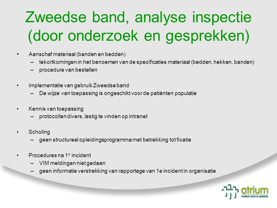 Zweedse band, analyse inspectie (door onderzoek en gesprekken)