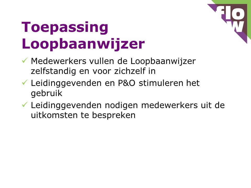 Toepassing Loopbaanwijzer