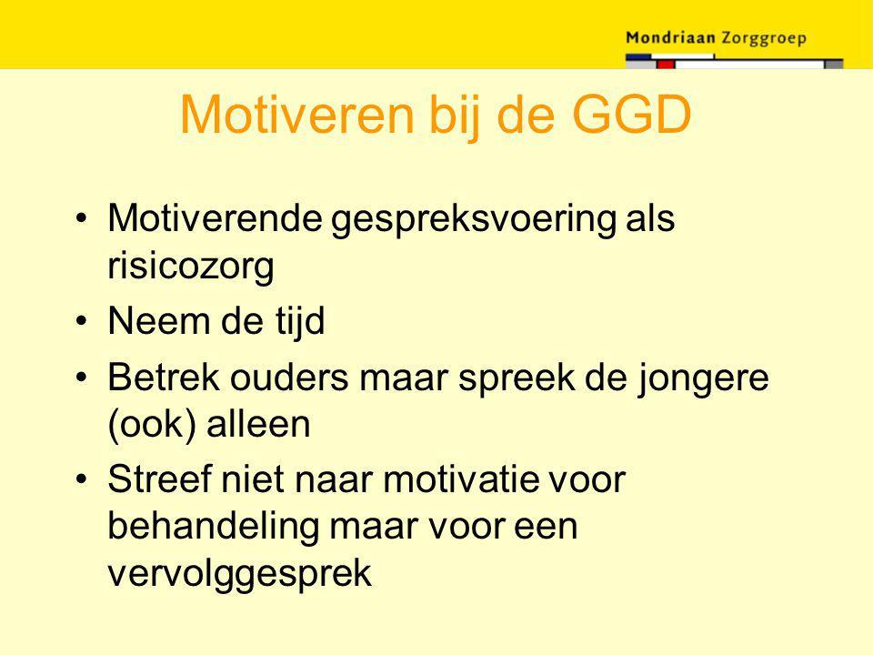 Motiveren bij de GGD Motiverende gespreksvoering als risicozorg